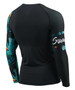 Summer Surf Compression Rashguard Blue