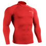 emfraa mock neck compression shirt red