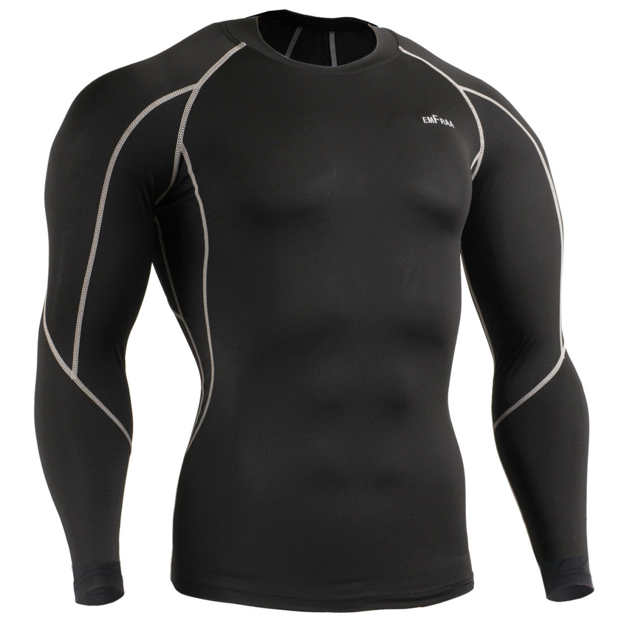 emfraa compression skin under base layer shirt long sleeve for mens ... 0644e22a201