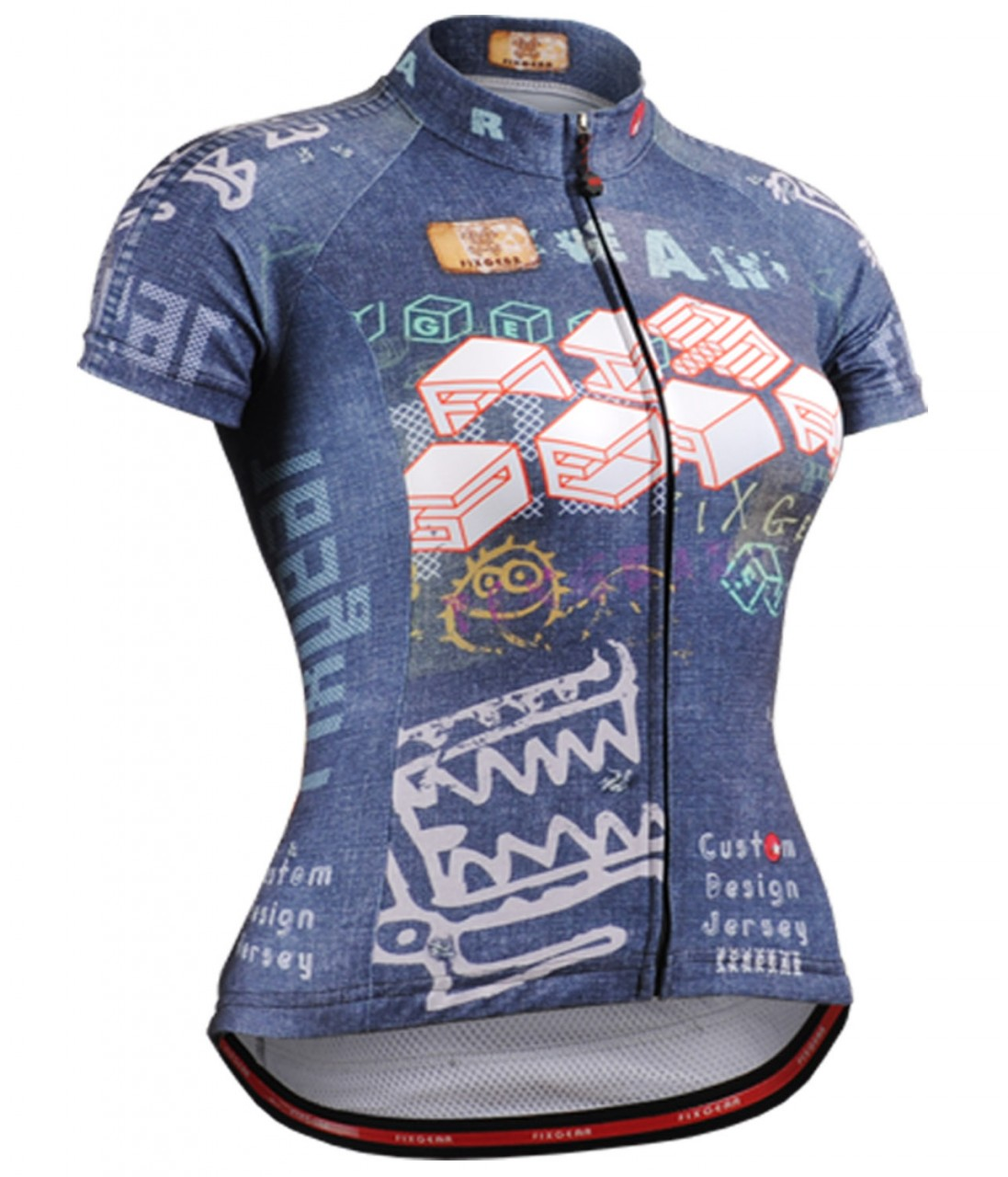 e94c63d5d Fixgear cycling jersey short sleeve color blue for women. size S