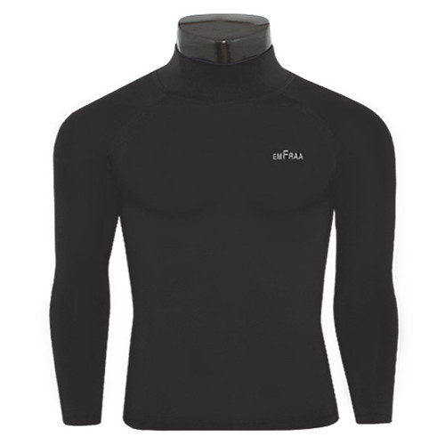 Mens Mock Neck Compression Base Layer Top Shirt Long Sleeve Thermal Cold Wear