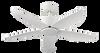 """Crestar Valueair 48""""/55"""" No Light Ceiling Fan - White"""