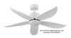 """Crestar Valueair 48""""/55"""" LED Ceiling Fan - White"""