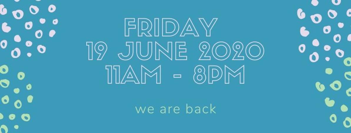 19 June 2010 Friday = We Reopen