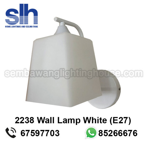 WL7-2238/1 White Wall Lamp