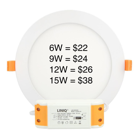 ( 8001 Round Single Color LED Downlight (false ceiling)