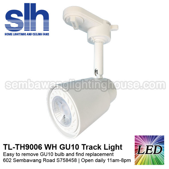 Track Light - TH9006 White (FOC GU10 Bulb)