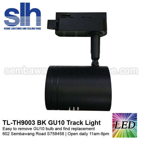 ( Track Light - TH9003 Black (FOC Bulb)