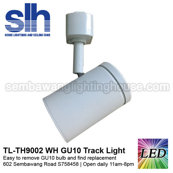 Track Light - TH9002 White (FOC GU10 Bulb)