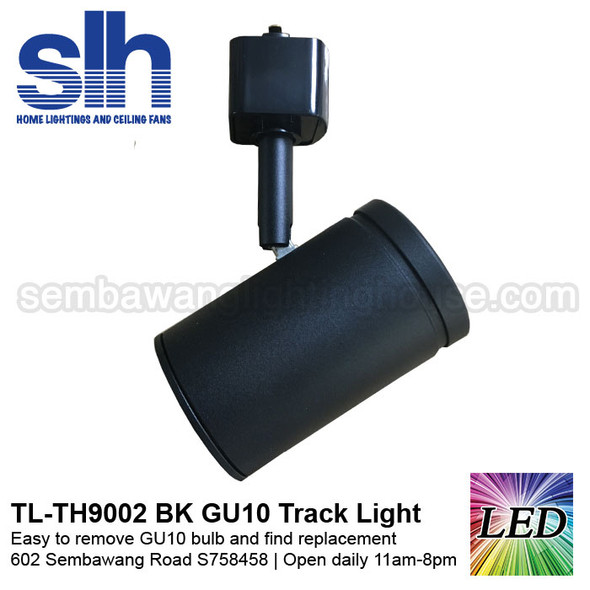 Track Light - TH9002 Black (FOC GU10 Bulb)