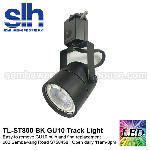 Track Light - ST800 Black (FOC GU10 Bulb)