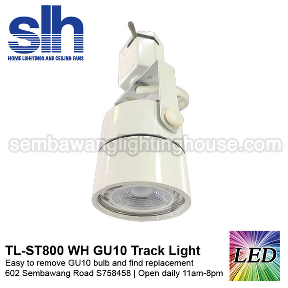 Track Light - ST800 White (FOC GU10 Bulb)