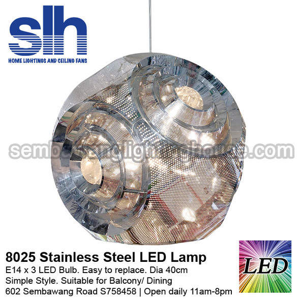 PL3-8025 LED Stainless Steel Ball Pendant Lamp