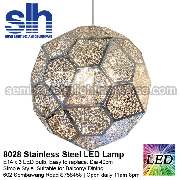 PL3-8028 LED Stainless Steel Ball Pendant Lamp