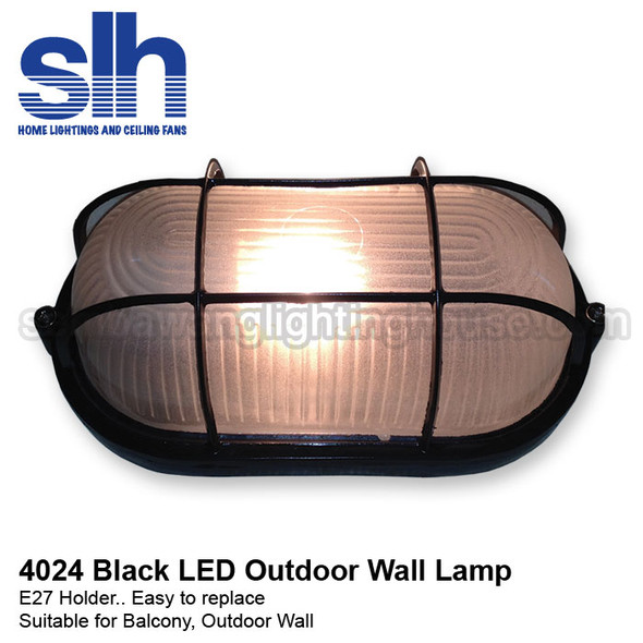 WL1-4024 E27 LED Wall Lamp (Black)