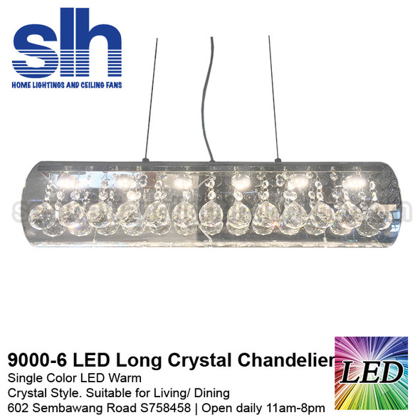 CC6-9000-60cm Long LED Crystal Chandelier
