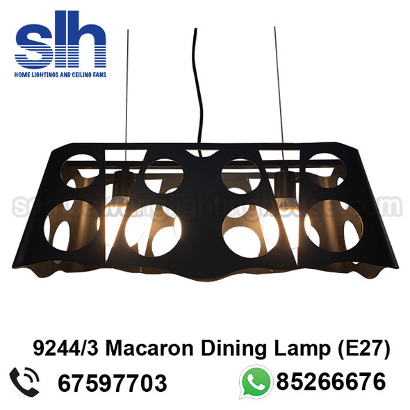 DL1-9244 Black Industrial LED Dining Lamp