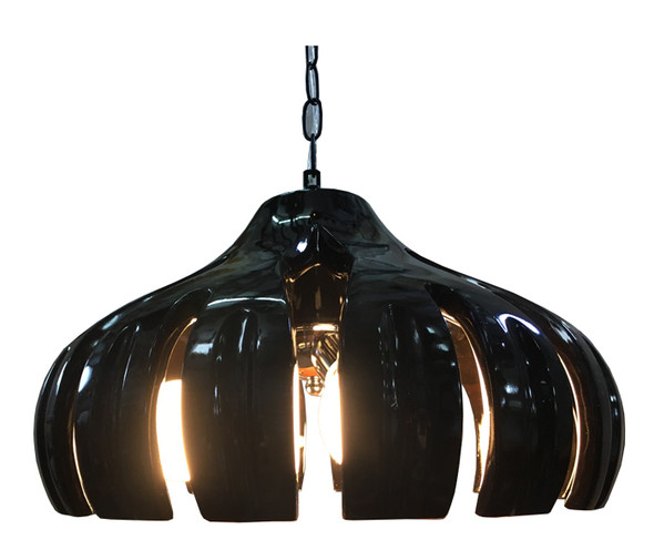 DL3-6828/3 Fibreglass Black LED Dining Lamp