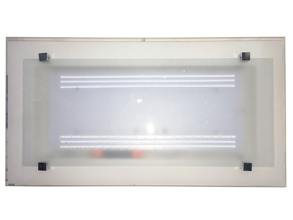 8009 White Rectangle Ceiling Lamp