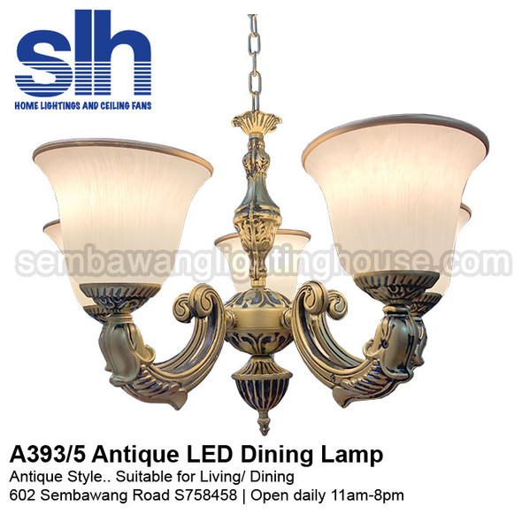 DL9-A393/5 Antique LED Dining Lamp
