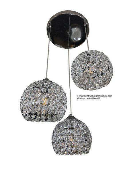 DL5-8360/3 Crystal LED Dining Lamp
