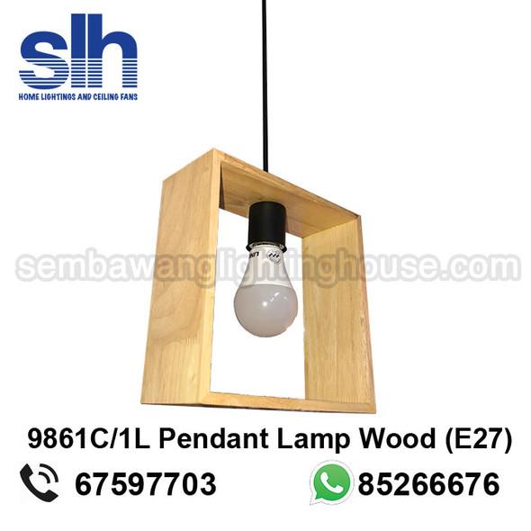 PL6-9861C/1 Wood E27 Lamp