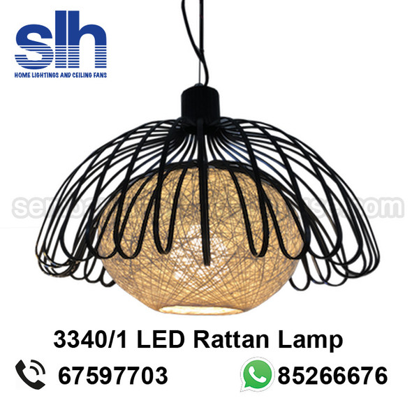 PL1-3340 LED Rattan Pendant Lamp