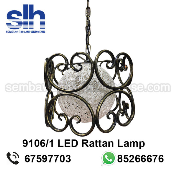 PL1-9106 LED Rattan Pendant Lamp