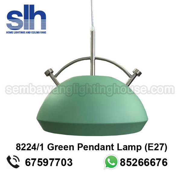 PL4-8224 LED Green Round Shade Pendant Lamp