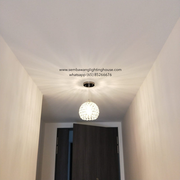 PL2-8360/1 LED Crystal Pendant Lamp