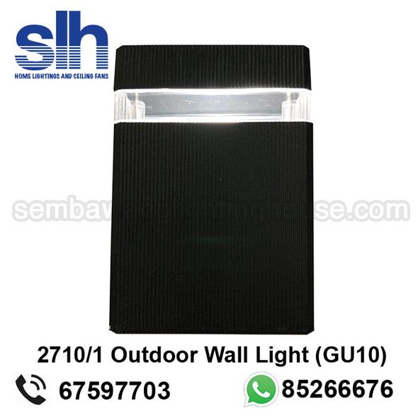 WL1-2710/1 GU10 Black Outdoor Lamp