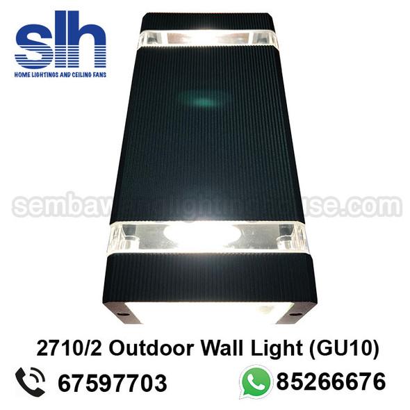 WL1-2710/2 GU10 Black Outdoor Lamp