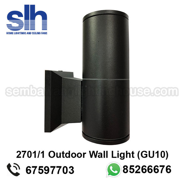 WL1-2701/1 GU10 Black Outdoor Lamp