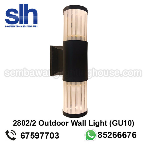 WL1-2802/2 GU10 Black Outdoor Lamp