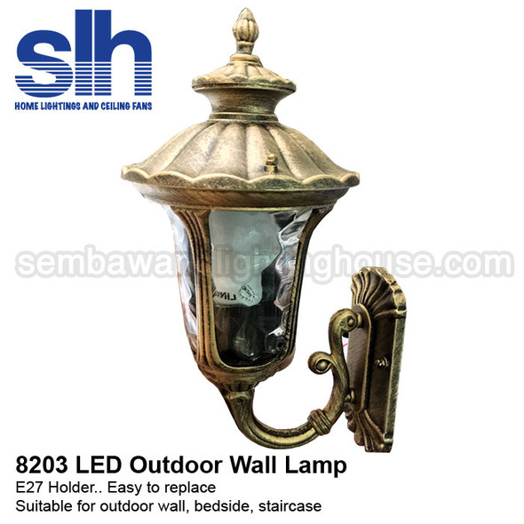 WL5-8203 Brown Outdoor LED E27 Wall Lamp