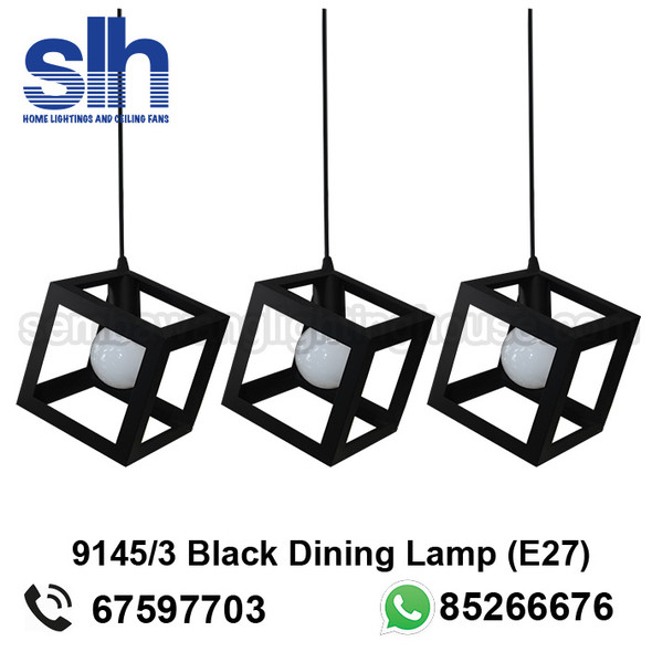 DL1-9145/3 Black Industrial LED Dining Lamp