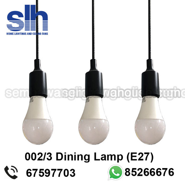 DL4-0002/3 Black Acrylic LED Dining Lamp