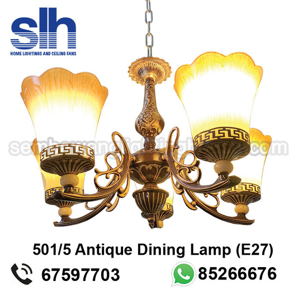 DL9-501/5 Antique LED Dining Lamp