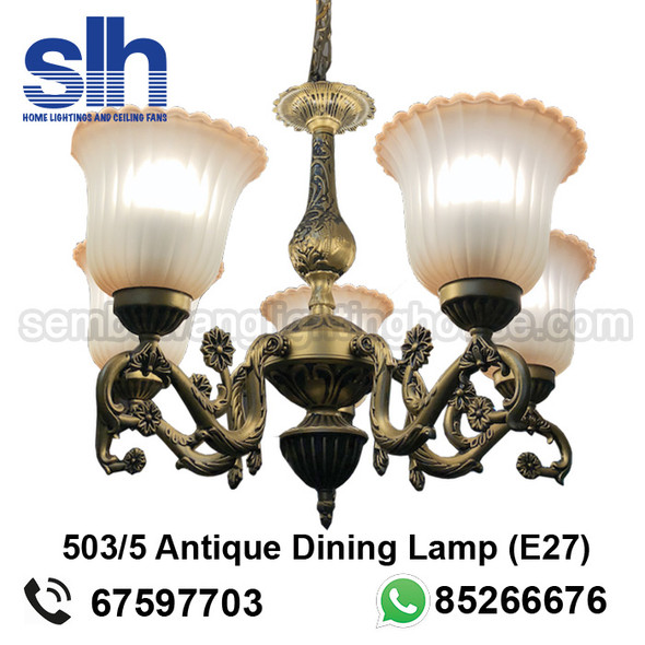 DL9-A503/5 Antique LED Dining Lamp