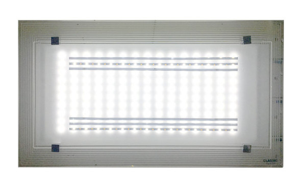 8018 White LED 36W Rectangle Ceiling Lamp