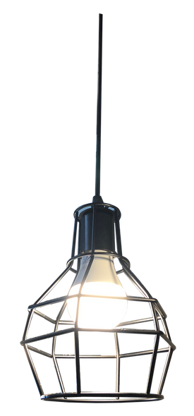 PL6-9002/1 Black E27 Pendant Lamp