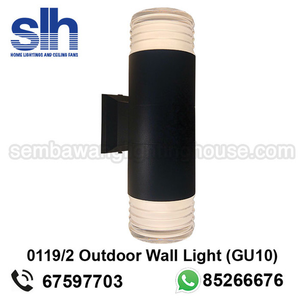 WL1-0119/2 GU10 Black Outdoor Lamp