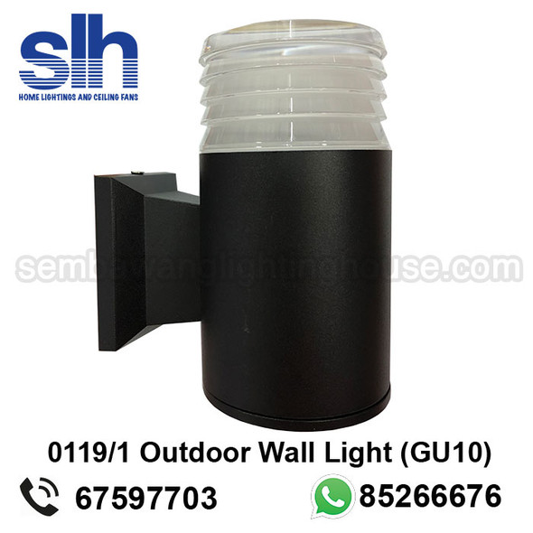 WL1-0119/1 GU10 Black Outdoor Lamp