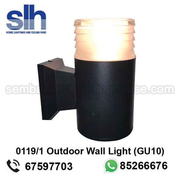 WL1-0119/1 GU10 Black Outdoor Lamp