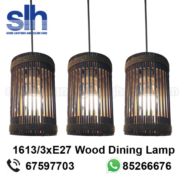 DL8-1613/3 Wood LED Dining Lamp