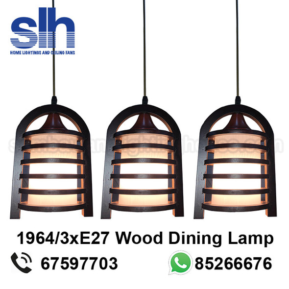 DL8-1964/3 Wood LED Dining Lamp