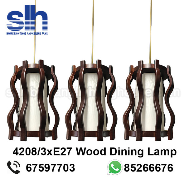 DL8-4208/3 Wood LED Dining Lamp