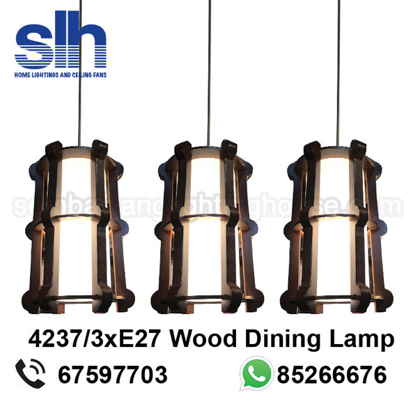 DL8-4237/3 Wood LED Dining Lamp