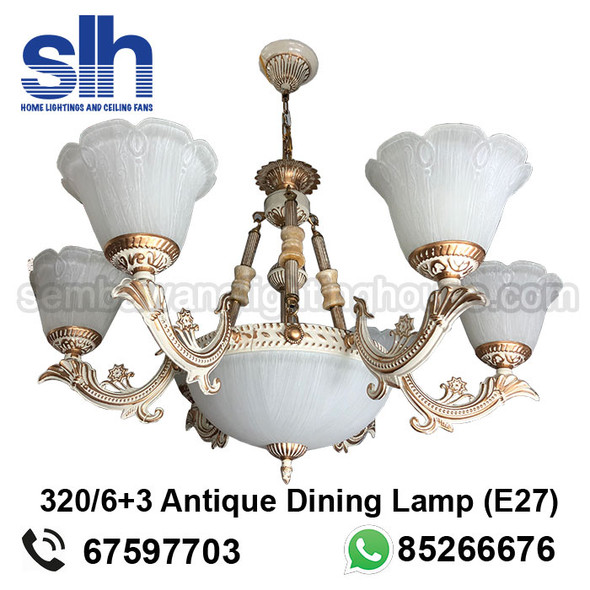 DL9-A320/6+3 Antique LED Dining Lamp