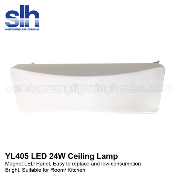 YL405/24W Rectangle Acrylic Ceiling Lamp